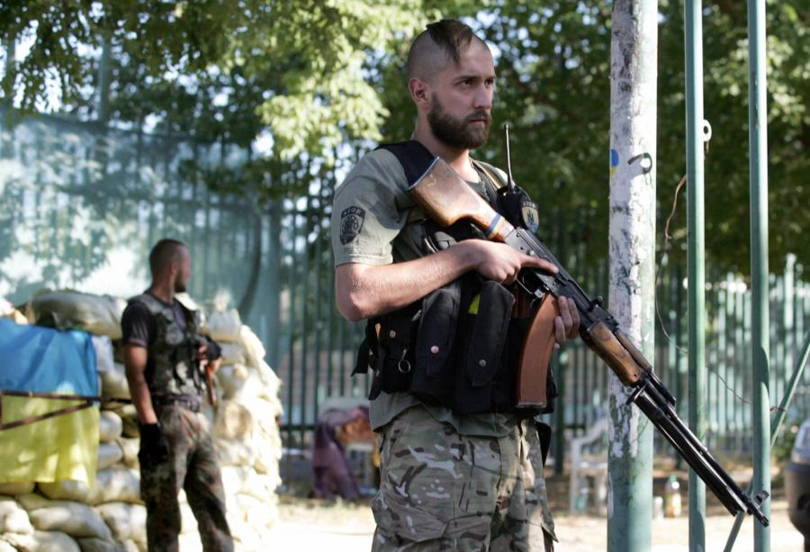 Mariupol: Ukraiński żołnierz z batalionu \