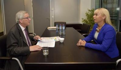 Elżbieta Bieńkowska i Jean-Claude Juncker