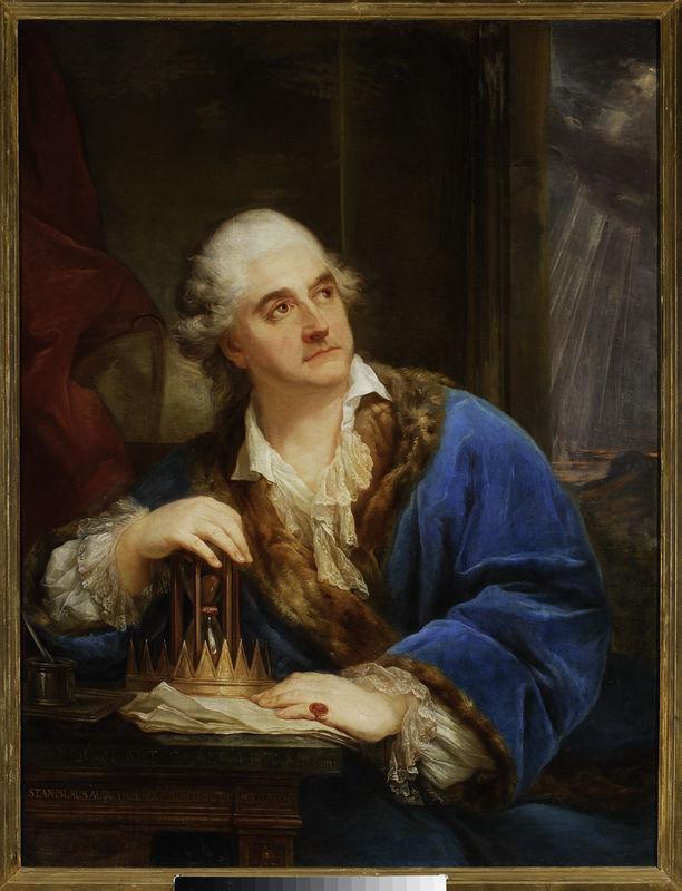 Portret Stanisława Augusta Poniatowskiego z klepsydrą, Marcello Bacciarelli, 1793, olej, płótno, nr  inw. MP 312 MNW