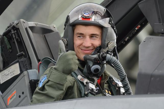 Kamil Stoch leciał myśliwcem F-16
