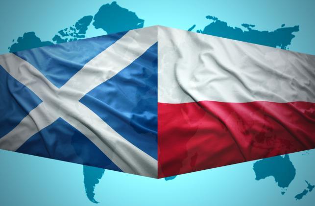 Polska i szkocka flaga