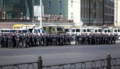 Rosyjska policja czeka w Moskwie na uczestników manifestacji