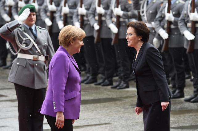 Ewa Kopacz, Angela Merkel