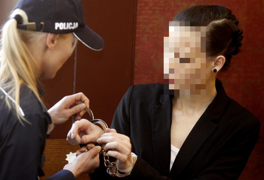 Katarzyna W. przed sądem w procesie apelacyjnym
