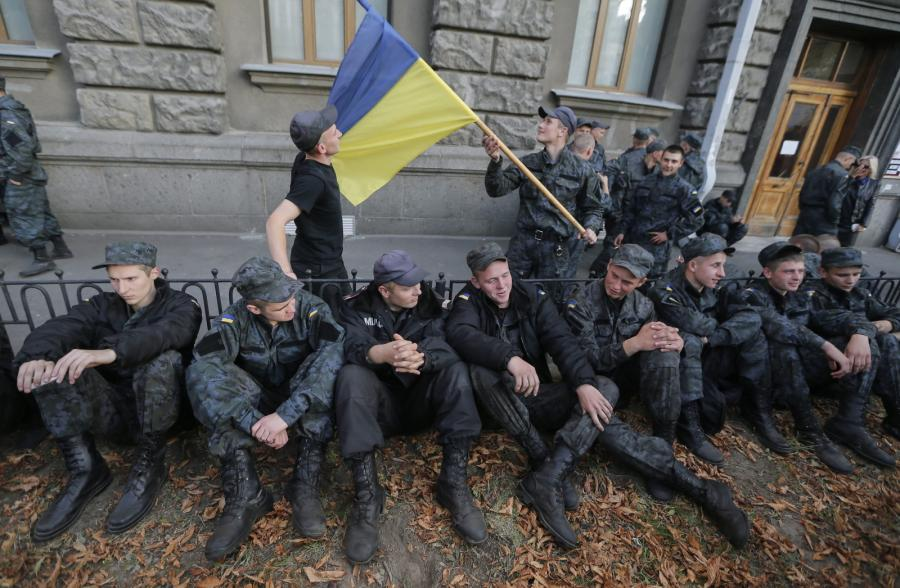 Protest ukraińskich żołnierzy