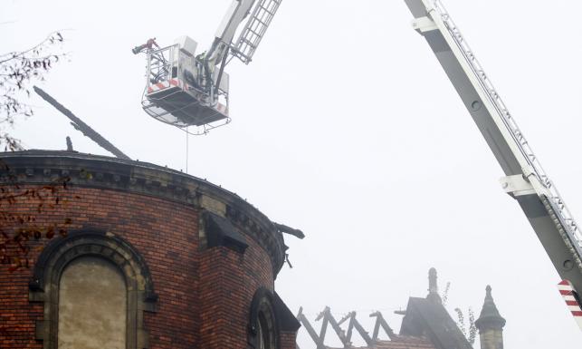 Pożar zabytkowej katedry w Sosnowcu. Straty szacuje się na na miliony złotych. ZDJĘCIA