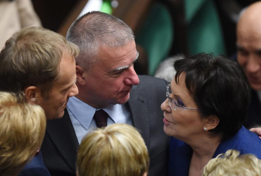Donald Tusk, Paweł Graś i Ewa Kopacz