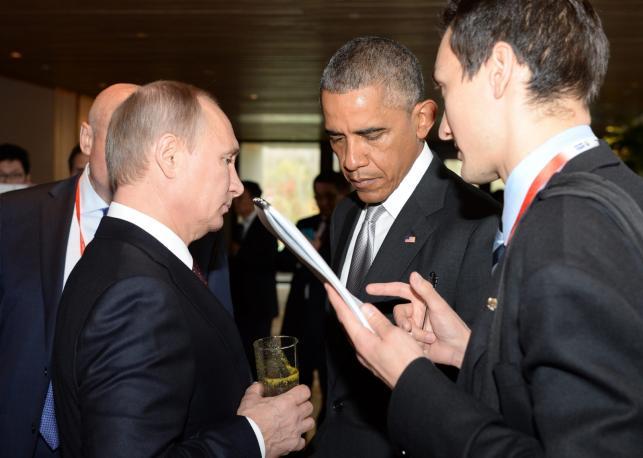 Władimir Putin i Baracka Obama na szczycie APEC