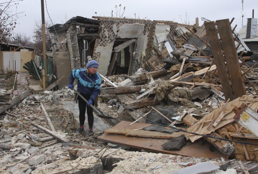 Zniszczony dom na Ukrainie