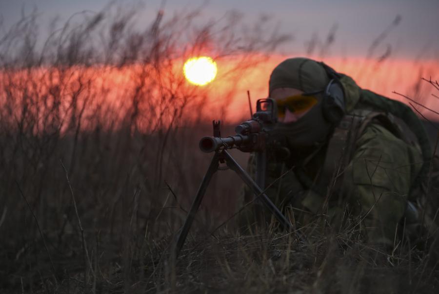 Ćwiczenia ukraińskich antyterrorystów niedaleko Charkowa