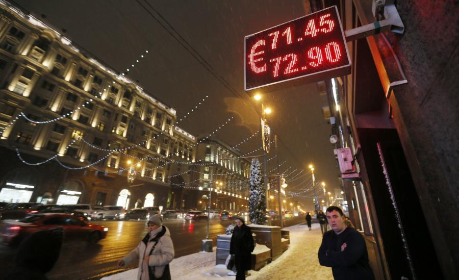 Kurs rubla w stosunku do euro