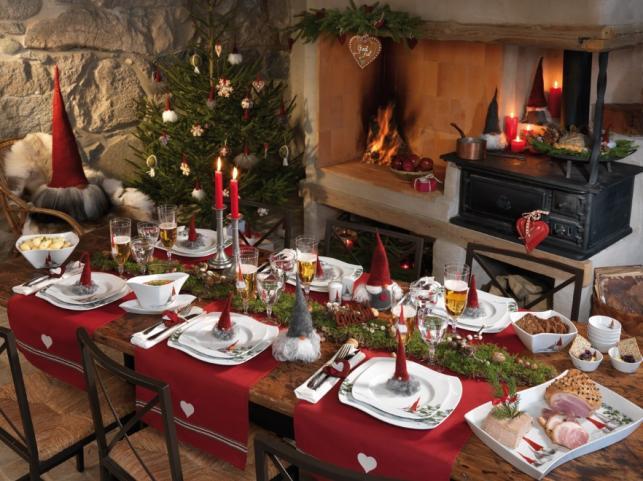 Dekoracje stołu i domu na Święta