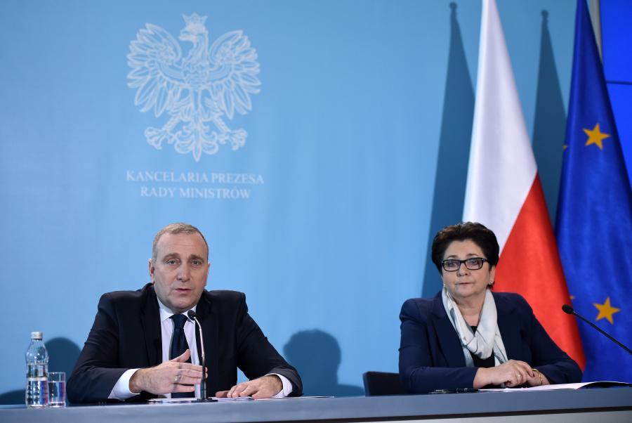 Grzegorz Schetyna i Teresa Piotrowska
