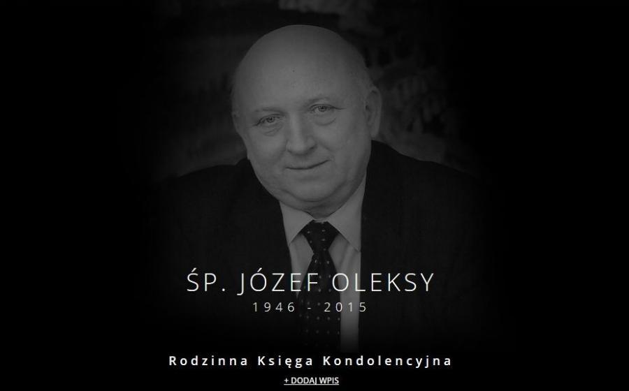 Księga Kondolencyjna poświęcona pamięci Józefa Oleksego