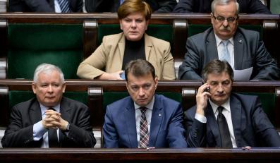 Jarosław Kaczyński, Mariusz Błaszczak, Marek Kuchciński, Beata Szydło, Leonard Krasulski