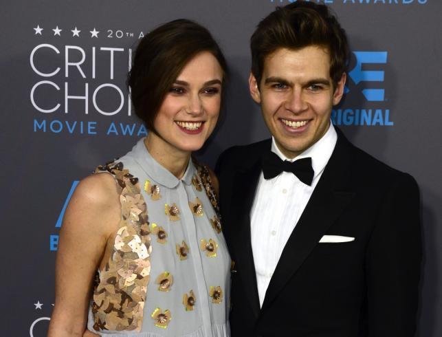 Keira Knightley i jej mąż James Righton na gali Critics' Choice Awards