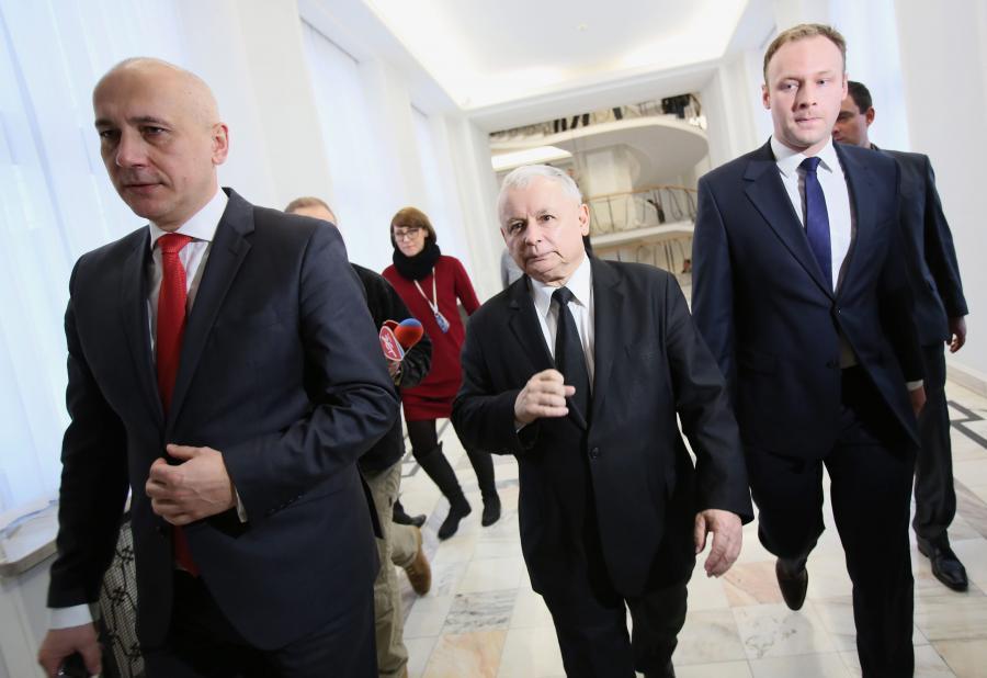 Joachim Brudziński, Jarosław Kaczyński, Marcin Mastalerek