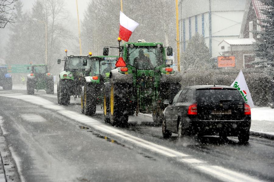 Blokada organizowana przez rolników
