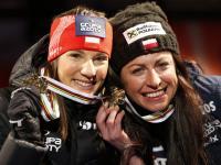 Tak Justyna Kowalczyk i Sylwia Jaśkowiec cieszyły się z medalu w Falun. ZDJĘCIA