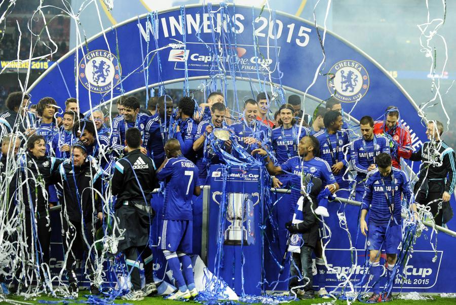 Radość piłkarzy Chelsea Londyn