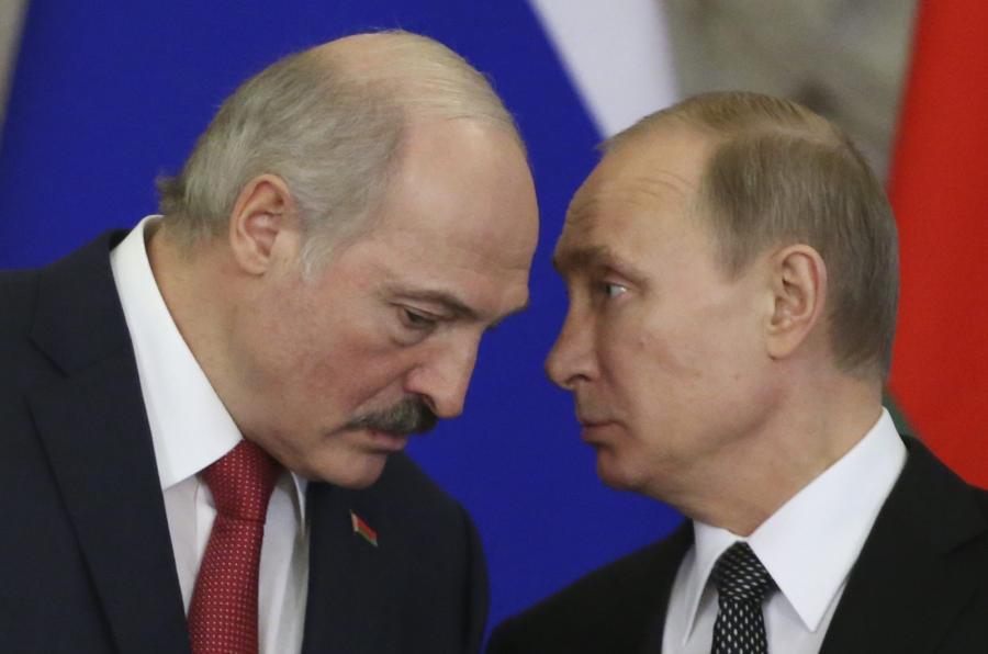 Aeksandar Łukaszenka i Władimir Putin