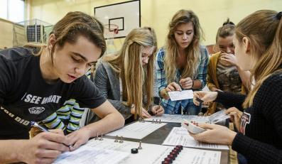 Uczniowie Gimnazjum nr 13 w Łodzi