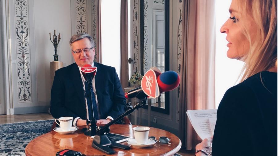 Prezydent Bronisław Komorowski i Monika Olenik, fot. Stanisław Skarżyński