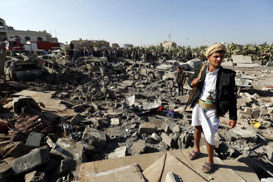 Saudyjskie bombardowania w Jemenie