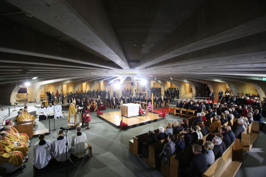 Msza w Świątyni Opatrzności Bożej