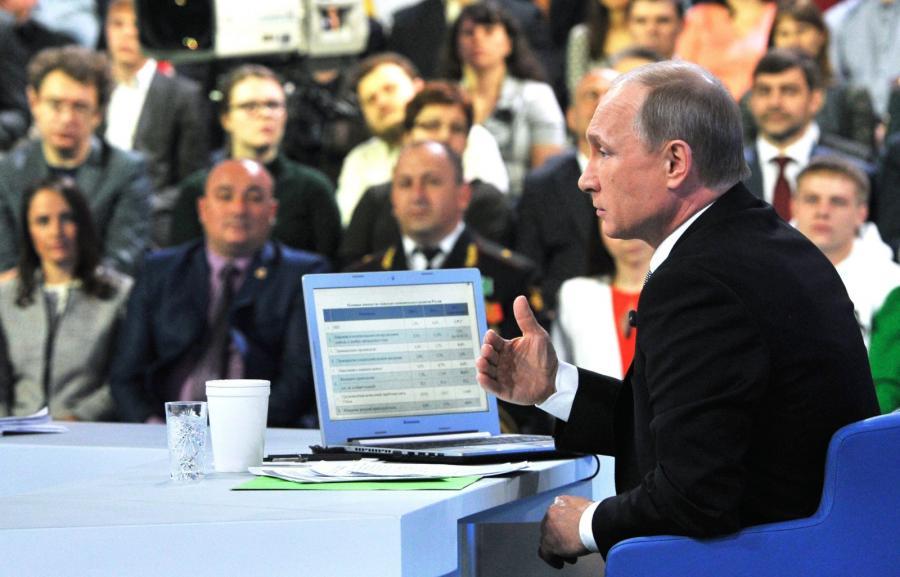 Władimir Putin w czasie programu \