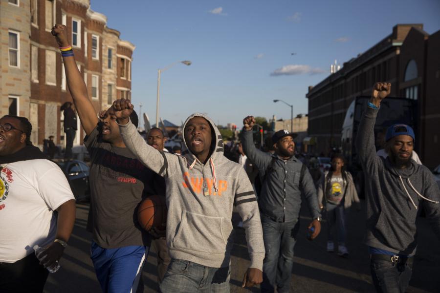 Nocne zamieszki w Baltimore
