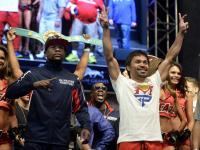 Floyd Mayweather Jr. cięższy od Manny'ego Pacquiao. ZDJĘCIA