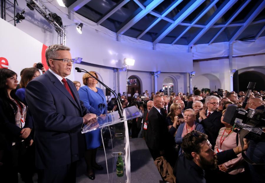 Wieczór wyborczy Bronisława Komorowskiego