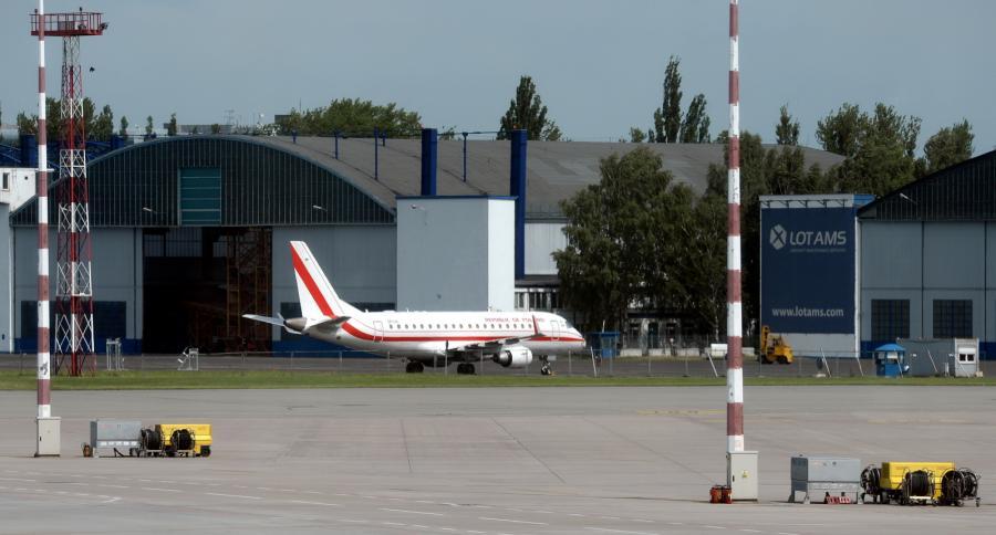 Rządowy samolot Embraer 175, który uległ awarii podczas startu