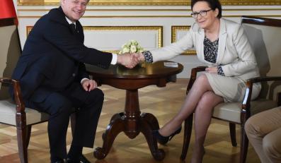 Premier Ewa Kopacz i premier Kanady Stephen Harper