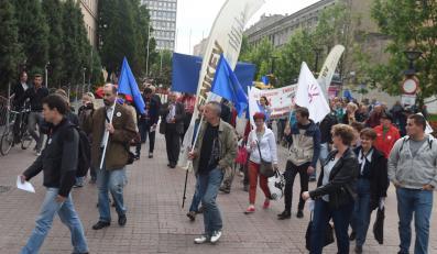 Manifestacja zorganizowana przez związek zawodowy