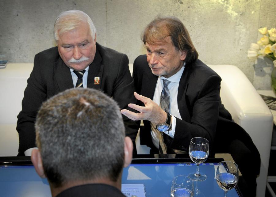Lech Wałęsa i Jan Kulczyk