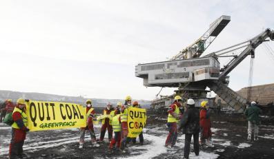 Ekolodzy z Greenpeace starli się z górnikami