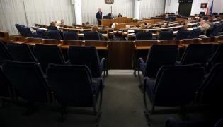 Widok na salę obrad podczas ostatniego dnia 80. posiedzenia Senatu