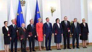 Agata Duda i Andrzej Duda w czasie powołania ministrów kancelarii prezydenta