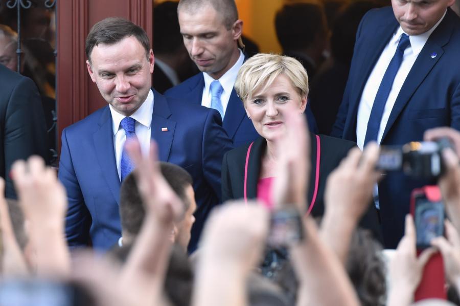 Prezydent Andrzej Duda z małżonką Agatą na Wawelu