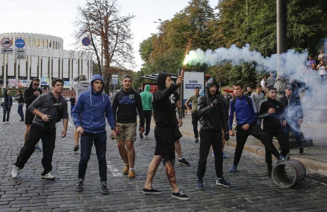 Ukraińcy w Kijowie polowali na polskich kibiców