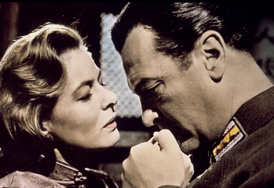 """Ingrid Bergman i Curd Jürgens w filmie """"Gospoda szóstego dobrodziejstwa"""""""