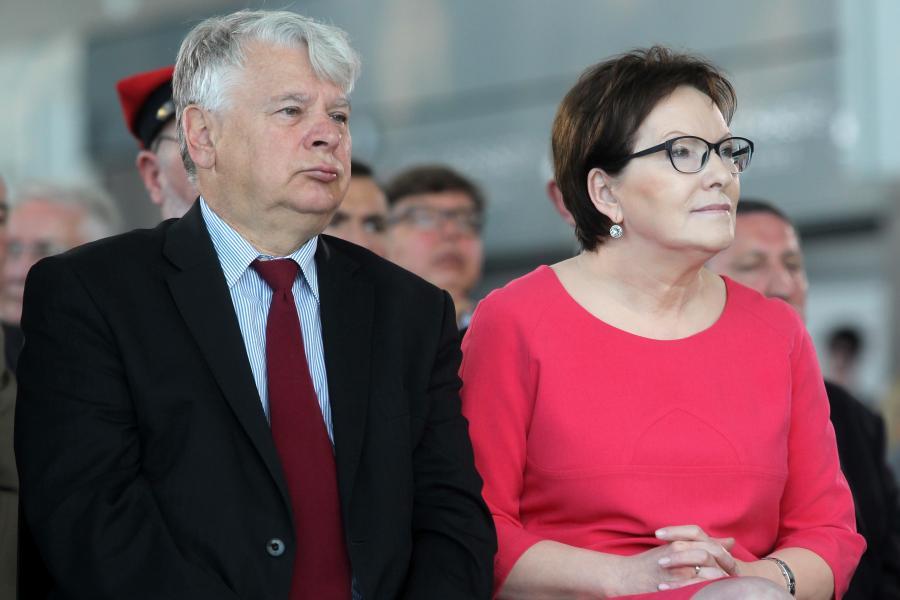 Bogdan Borusewicz i Ewa Kopacz