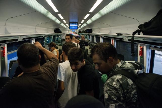 Pociąg z imigrantami na stacji w Budapeszcie