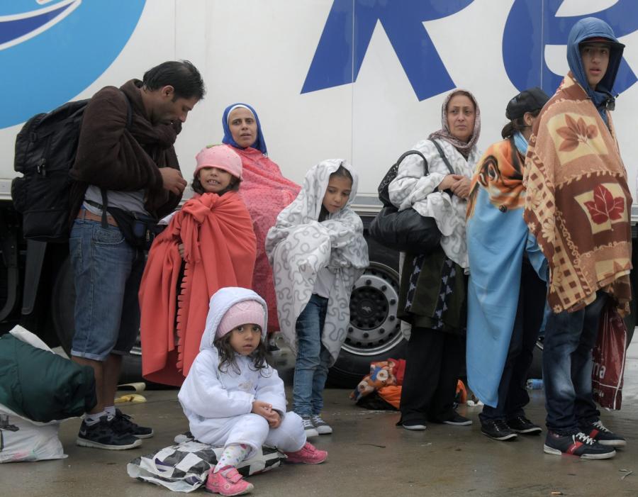 Rodzina uchodżców