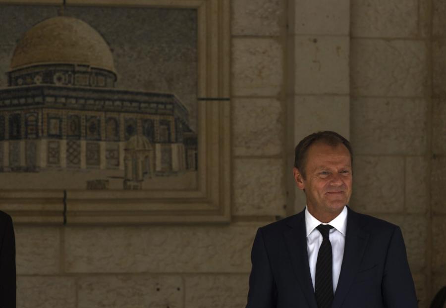 Donald Tusk w Ramallah