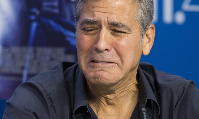 Tak płacze George Clooney [ZDJĘCIA]