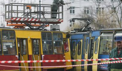 Zderzenie tramwajów zablokowało centrum Warszawy