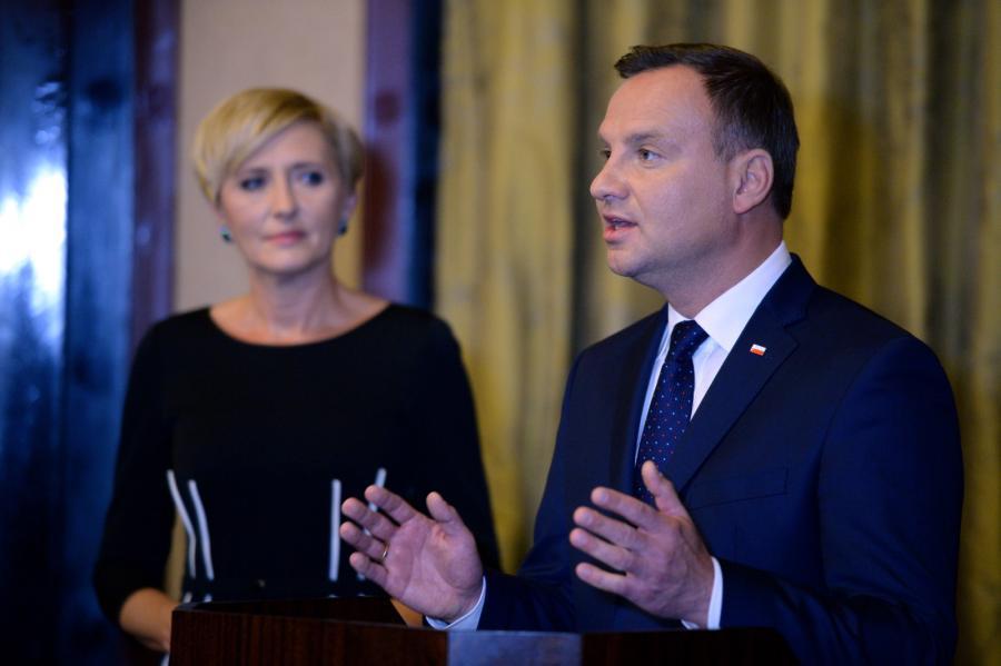 Prezydent Andrzej Duda z żoną Agata Kornhauser-Dudą
